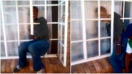 See video of unlucky thief who got trapped while trying to break into a house