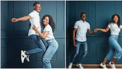 See moment lady carried her man like a baby in cute pre-wedding photo