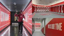 6 Stunning Photos of Arsenal's Sleek New-Look Tunnel and Dressing Room at The Emirates