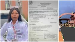 Lady who wore 'aggressive malpractice' shirt during signing out in trouble as UNIBEN investigates her results