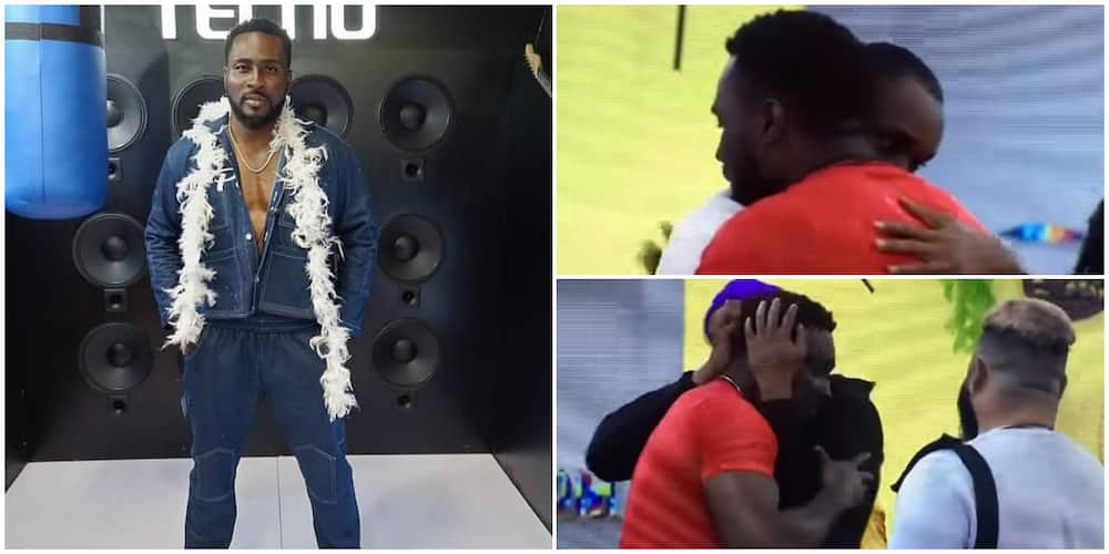BBNaija's Pere cries after surviving eviction nomination