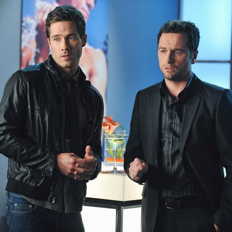 Macfarlane with Matthew Rhys in the Brothers&Sisters TV series