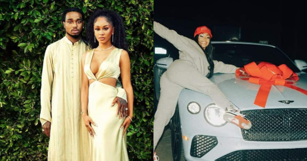Migos Member Quavo Did Not Take Back Bentley He Gifted Ex-Lover Saweetie