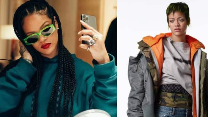 Bag of talents: Singer Rihanna styles and photographs herself for Vogue Italia cover