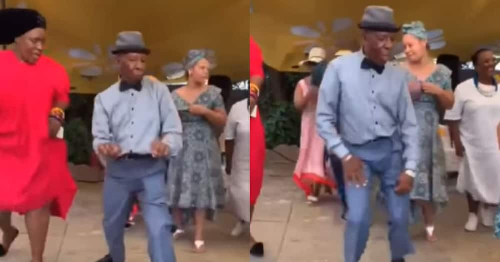 Old man wows with dance moves