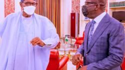 Bikin sauya sheka: Gwamna ya gana da Buhari, ana zargin zai sauya sheka, ya fito ya yi bayani