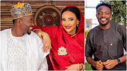Super Eagles captain Musa shares more photos from his secret wedding with new wife as they step out in style