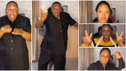 Nigerians gush over video of veteran actor Jide Kosoko and daughters as they do TikTok challenge