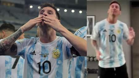 Video shows Lionel Messi dancing in the gym while Barcelona make frantic effort to renew contract
