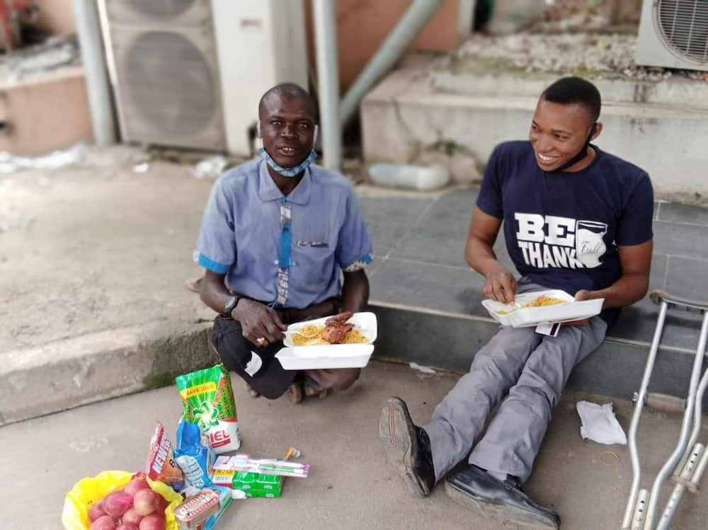 Despite being physically challenged, this young man is helping others like him and putting smiles on their faces