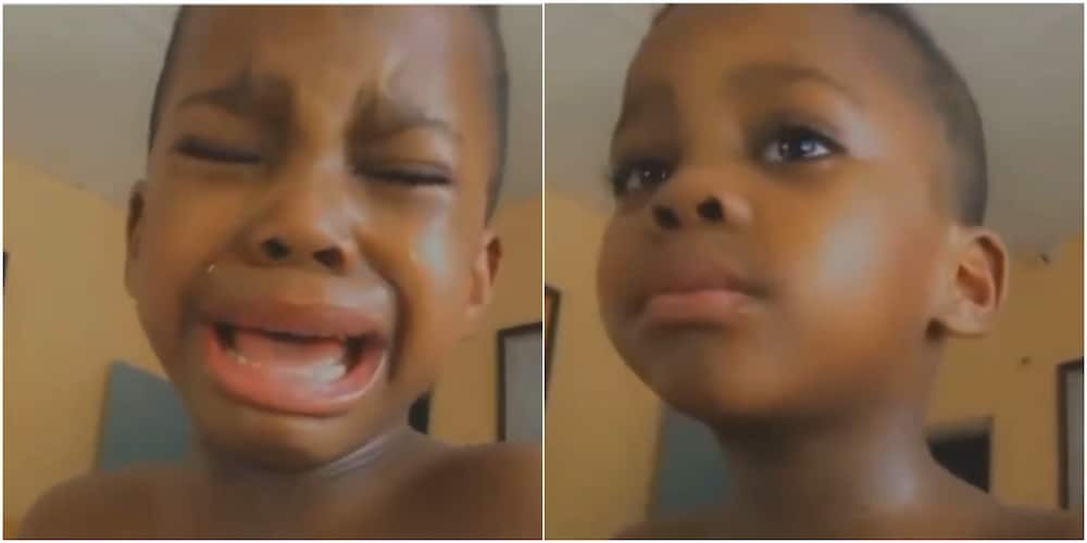 Adorable Little boy cries uncontrollably as mum says he's not her best friend