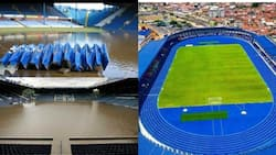 Viral images shared as newly renovated Lekan Salami Stadium are waterlogged Hillsborough pitch