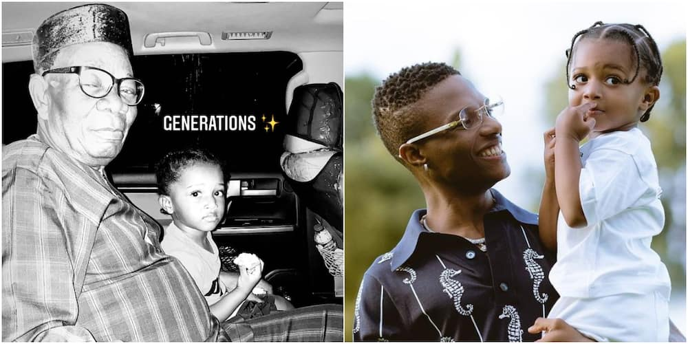 Wizkid's father and his son