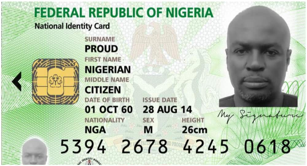 FG reveals replacement for national identity card