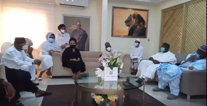 Ajimobi's wife, Oyo deputy governor exchange words after burial