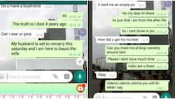 Nigerian lady stops man from disturbing her for a relationship, pretends to be a ghost
