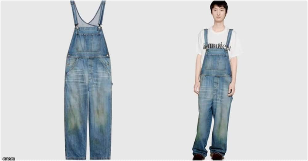 Hilarious reactions to Gucci selling jeans with grass stains effect for KSh 130k