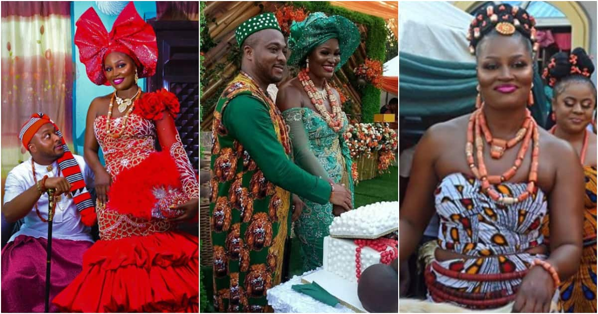 Cute photos of Chizzy Alichi and her husband-to-be at their traditional wedding