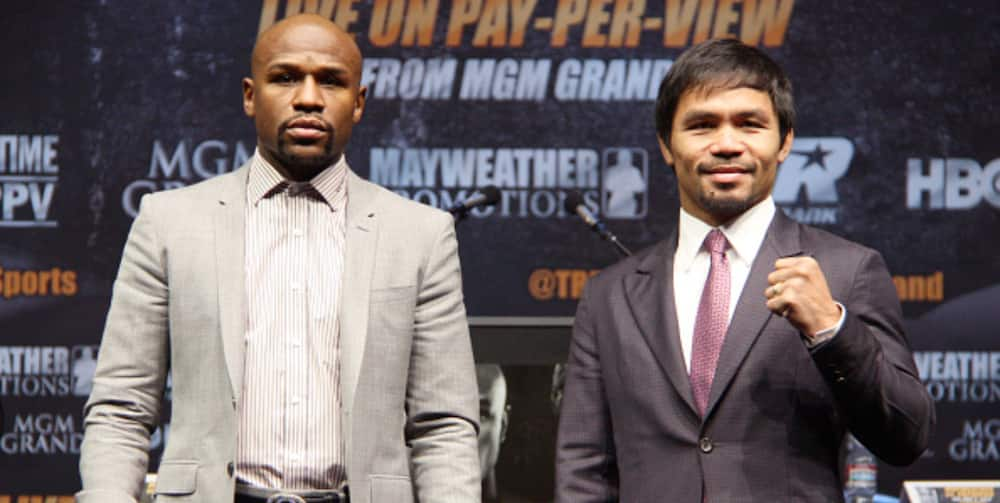 Pacquiao responds to Mayweather's claims about fighting for survival