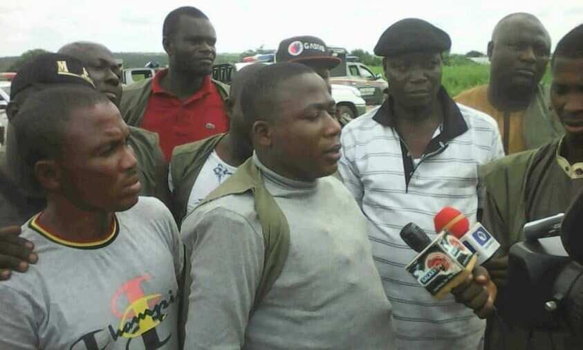 Quit notice to herdsmen: Sunday Igboho, supporters storm Igangan