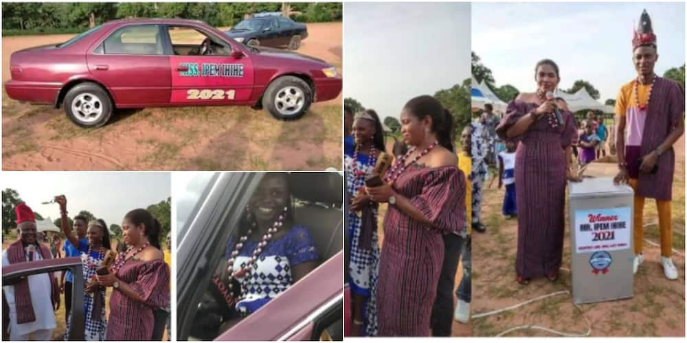 A young lady got a used Toyota Camry car for winning Miss Ipem Ihihe 2021 beauty pageant