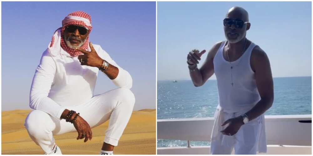 Nollywood star Richard Mofe-Damijo shares dance video of himself as he holidays in Dubai