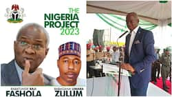 2023 presidency: Buhari's minister from southwest reacts as campaign poster pairing him with northern governor surfaces