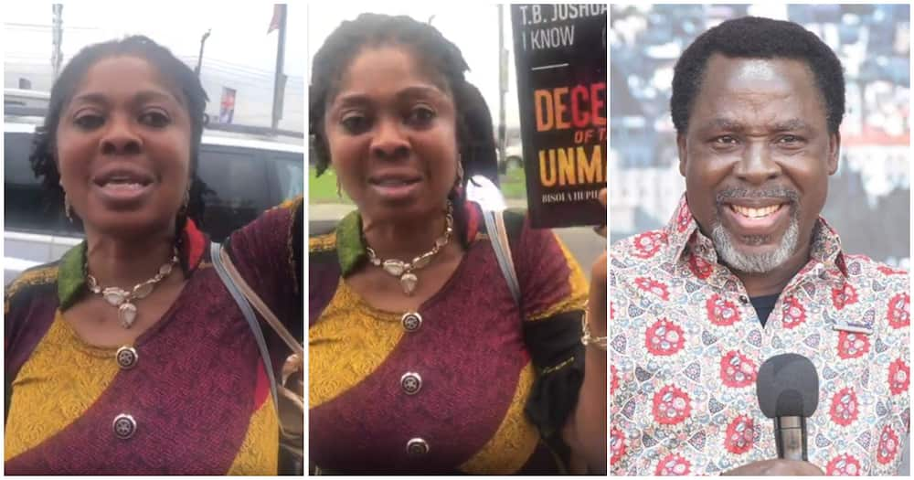 IstandWithBusola: Protester comes hard at Pastor T.B Joshua, alleges he molested her