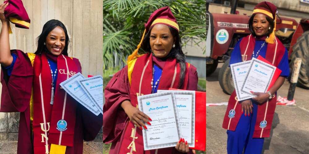 Cynthia Okoye graduated with a CGPA of 4.82