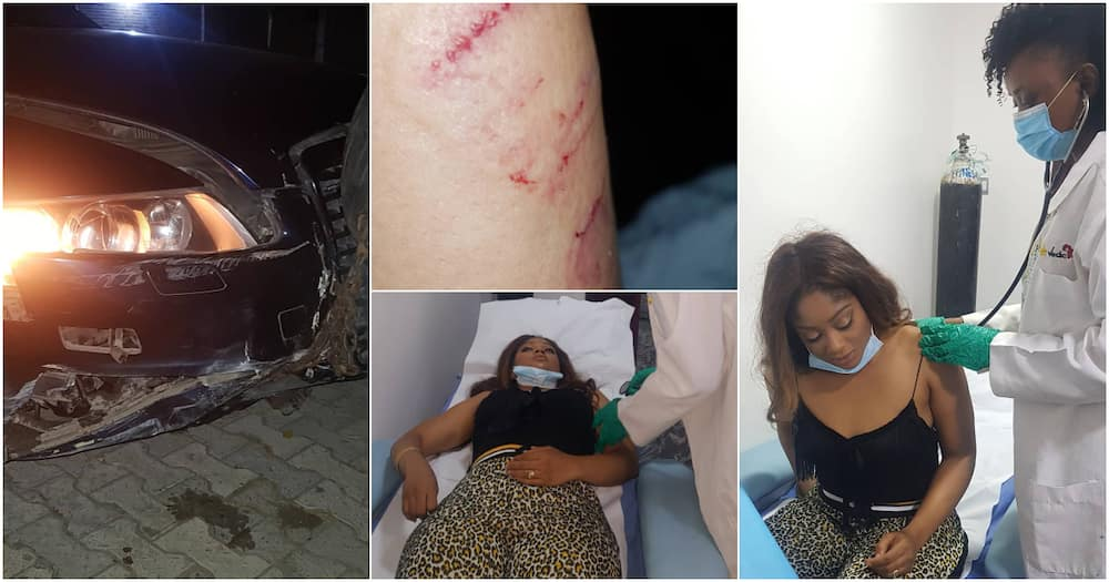 Filmmaker Yomi Black's wife involved in ghastly accident (photos, videos)