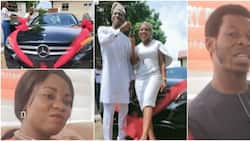 If God blesses me, I can buy him a jet: Nigerian woman who bought brand new car for hubby says, many react