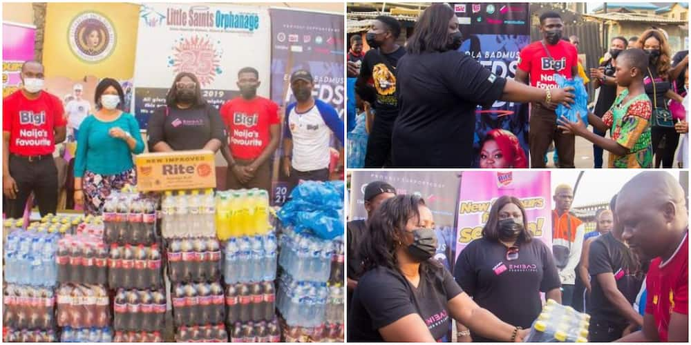 No One Ever Became Poor by Giving: Actress Eniola Badmus Blesses Orphanage Home with Numerous Gifts