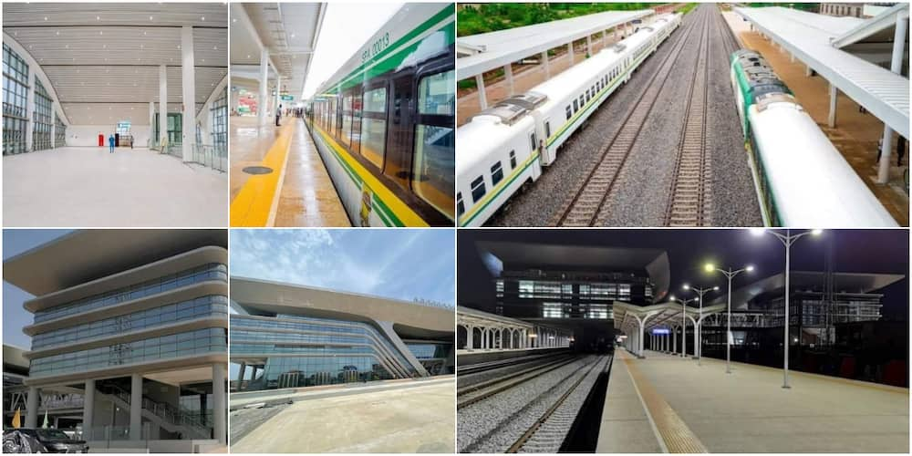 Adorable photos of N616 billion Lagos-Ibadan rail project Buhari commissioned wow many as they hail president