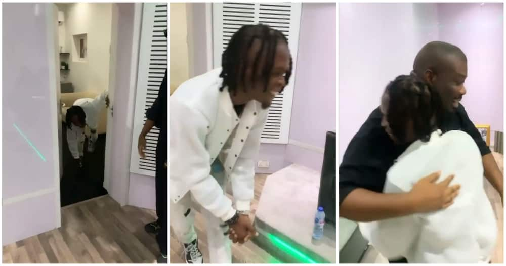 See Laycon's reaction when he finally meets Don Jazzy for the first time