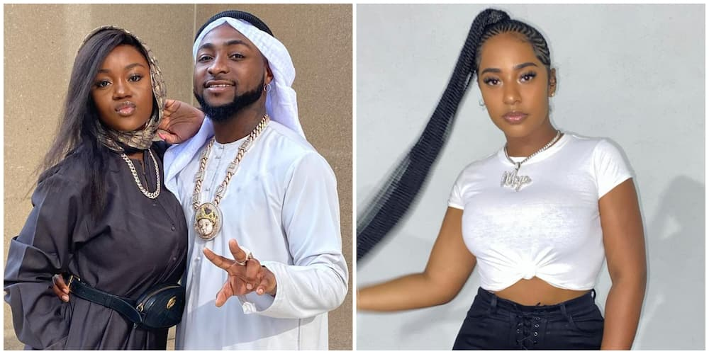 Meltdown on Social Media as Pictures of Davido Passionately Kissing Pretty Model Mya Yafai Surfaces