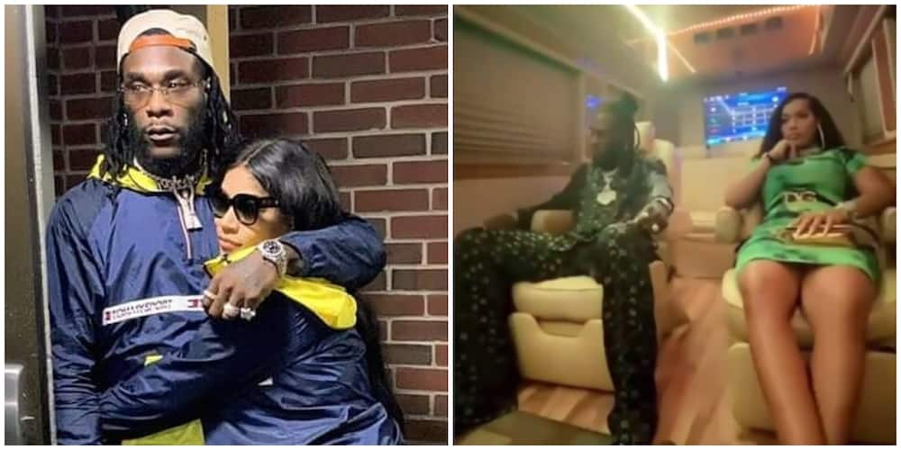 Burna Boy and girlfriend Steff London sighted chilling together in Lagos