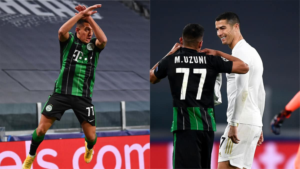 Myrto Uzuni Copies Cristiano Ronaldo's Goal Celebration in UCL