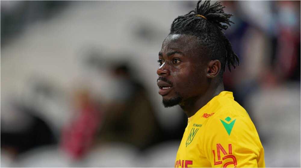 Moses Simon: Nigerian star misses begging chance during Nantes vs PSG Ligue 1 game