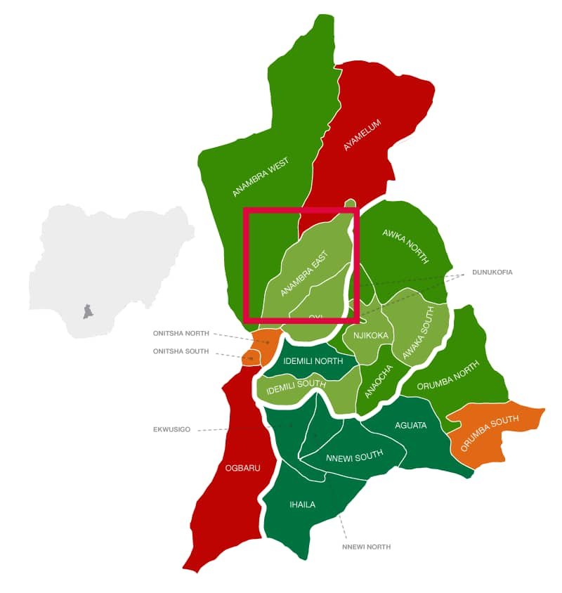 Anambra East location