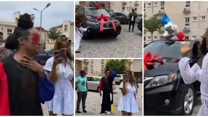 Sweet moment friends stun Denrele Edun with Lexus SUV car gift to mark his 40th birthday in viral video