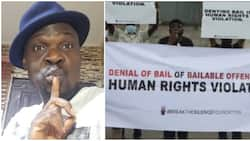 Baba Ijesha: Police responds to protesters, says actor will remain in custody based on 'legal advice'