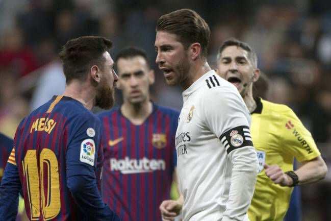 Sergio Ramos da Lionel Messi