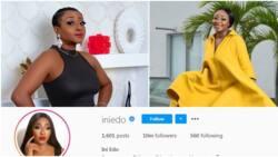 Actress Ini Edo celebrates reaching 10 million followers on Instagram