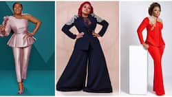 8 times Funke Akindele proved she is the queen of power-dressing in two-piece pant sets
