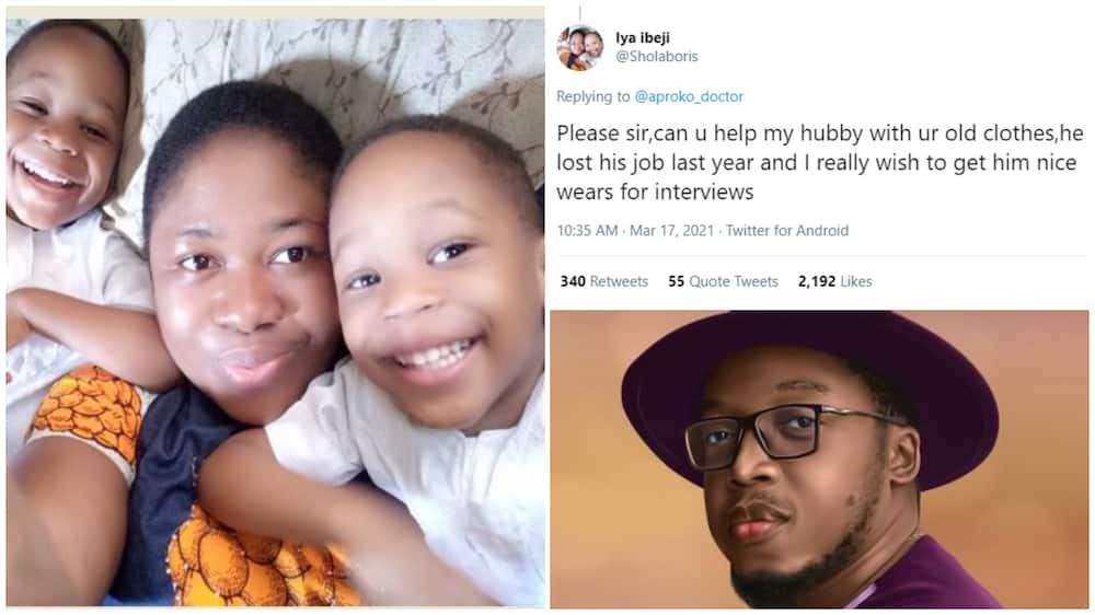 Wife Goes on Twitter to Beg for Clothes that Unemployed Husband Can Wear, People Surprise her with Gifts