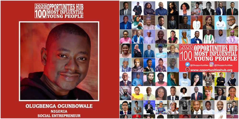 Nigerian man celebrates after making list of top 100 influential young people