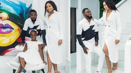 Comedian AY celebrates his wife Mabel on their 10th wedding anniversary, calls her his personal angel (photos, videos)