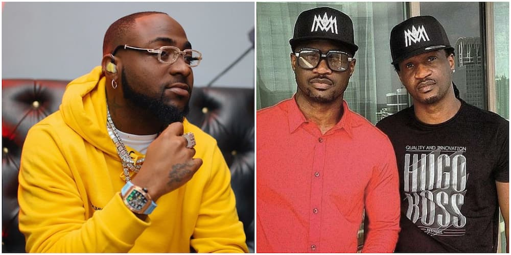 Davido faults those who attended separate birthday parties of Paul and Peter Okoye