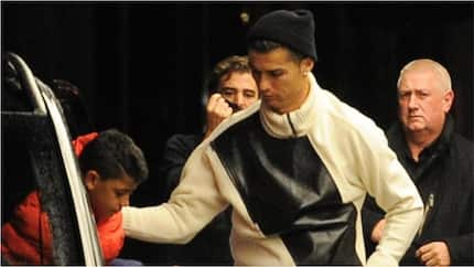Ronaldo spotted in N4.2m per night London hotel with his family hours after scoring for Juventus