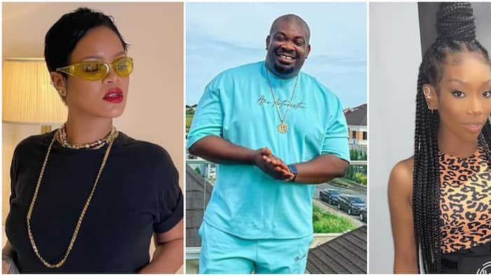 Focus on Rihanna: Fans react as Don Jazzy says Brandy is entering his eyes after sighting US singer dancing